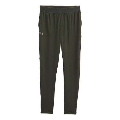 Mens Under Armour Elevated Tapered Knit Warm-Up Pants - Rifle Green L