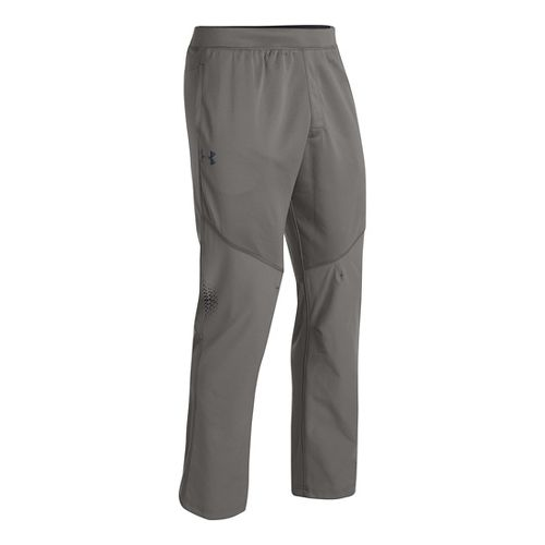Mens Under Armour ColdGear Infrared Warm-Up Pants - Tan XLT
