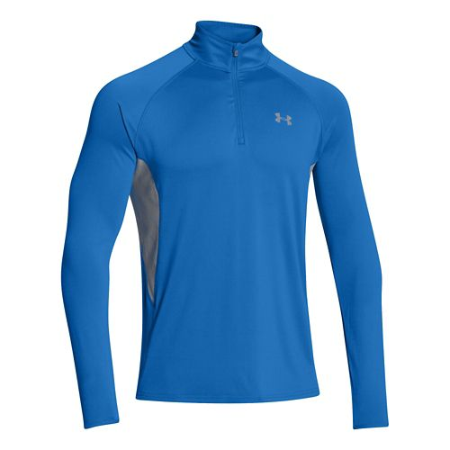 Mens Under Armour Armourvent Run Long Sleeve 1/2 Zip Technical Tops - Scatter S