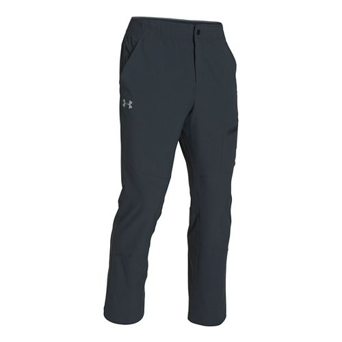 Mens Under Armour Elevated Woven Warm-Up Pants - Anthracite L