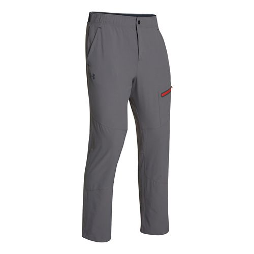 Mens Under Armour Elevated Woven Warm-Up Pants - Graphite S