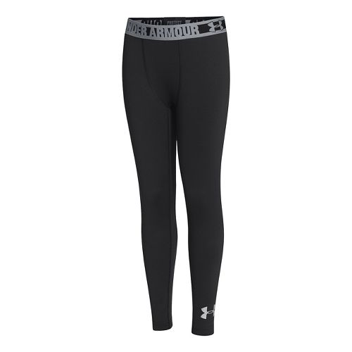 Kids Under Armour Boys ColdGear EVO Fitted Legging Fitted Tights - Black XL