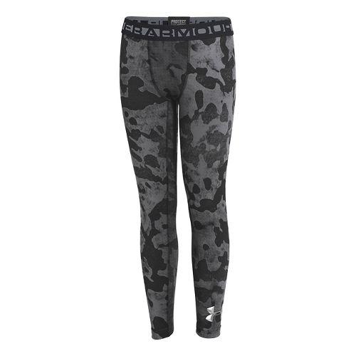 Kids Under Armour Boys ColdGear EVO Legging Fitted Tights - Black/Graphite M
