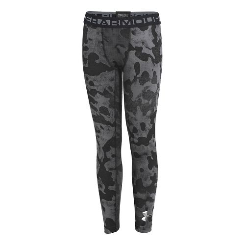 Kids Under Armour Boys ColdGear EVO Legging Fitted Tights - Black/Graphite XS