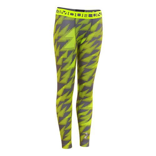 Kids Under Armour Boys ColdGear EVO Legging Fitted Tights - Graphite S