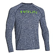 Mens Under Armour Run T Long Sleeve No Zip Technical Tops