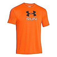 Mens Under Armour Run Big Graphic T Short Sleeve Technical Tops