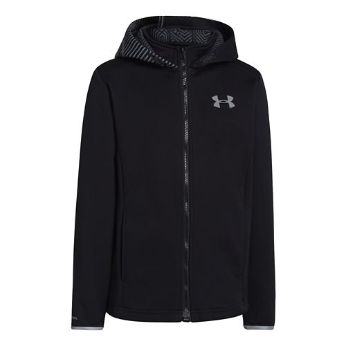 Kids Under Armour Boys ColdGear Infared Storm MagZip Running Jackets - Black L