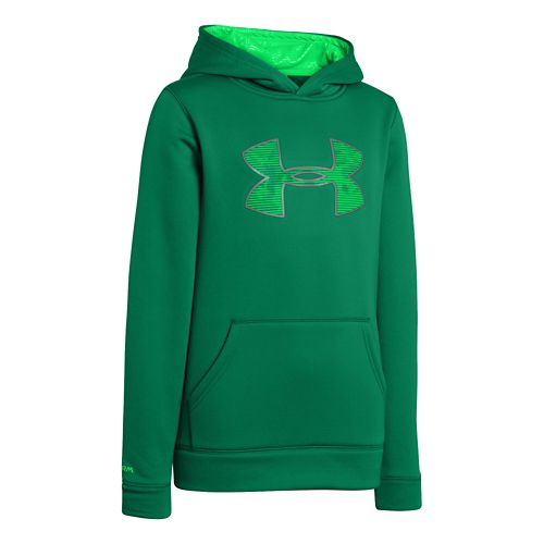 Kids Under Armour Boys Armour Fleece Storm Big Logo Hoody Warm-Up Hooded Jackets - ...