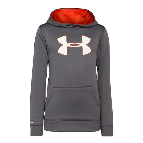 Kids Under Armour Boys Armour Fleece Storm Big Logo Warm-Up Hooded Jackets - Graphite/Volcano ...