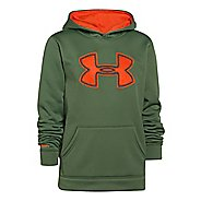 Kids Under Armour Boys Armour Fleece Storm Big Logo Warm-Up Hooded Jackets