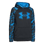 Kids Under Armour Boys Armour Fleece Storm Big Logo Novelty Hoody Warm-Up Hooded Jackets