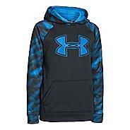 Kids Under Armour Boys Armour Fleece Storm Big Logo Novelty Hoody Warm-Up Hooded Jackets