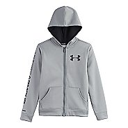 Kids Under Armour Boys Armour Fleece Storm MagZip Warm-Up Hooded Jackets