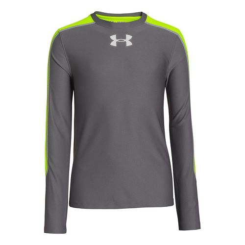 Kids Under Armour Boys Iintensity T Long Sleeve No Zip Technical Tops - Graphite M ...