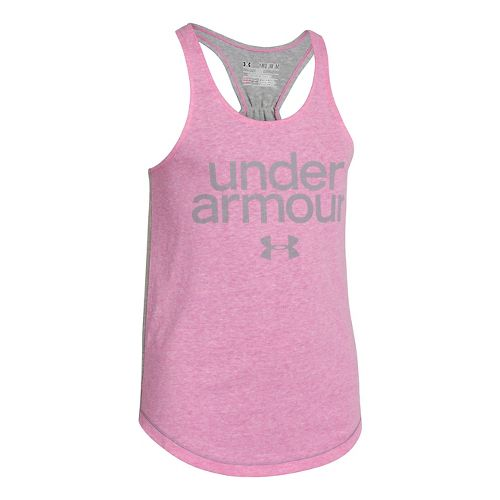 Kids Under Armour Girls Qualifier Triblend Tanks Technical Tops - Chaos M
