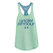 Kids Under Armour Girls Qualifier Triblend Tanks Technical Tops
