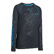 Kids Under Armour Boys Dynamism Long Sleeve No Zip Technical Tops