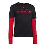 Kids Under Armour Boys Dynamism 2-IN-1 Longsleeve Technical Tops