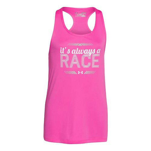 Kids Under Armour Girls Always A Race Graphic Tanks Technical Tops - Chaos S
