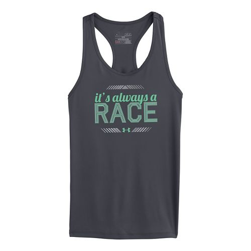 Kids Under Armour Girls Always A Race Graphic Tanks Technical Tops - Lead XS