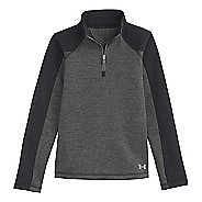 Kids Under Armour Girls Rally ColdGear Infrared Long Sleeve 1/2 Zip Technical Tops