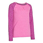 Kids Under Armour Girls Paralux Cozy Long Sleeve No Zip Technical Tops
