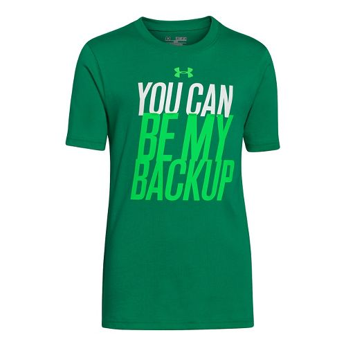 Kids Under Armour Boys You Can Be My Backup T Short Sleeve Technical Tops - ...