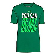Kids Under Armour Boys You Can Be My Backup T Short Sleeve Technical Tops