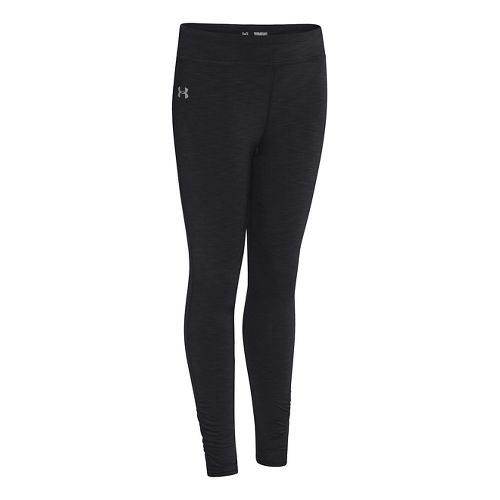Kids Under Armour Girls Mevo Fitted Tights - Black L