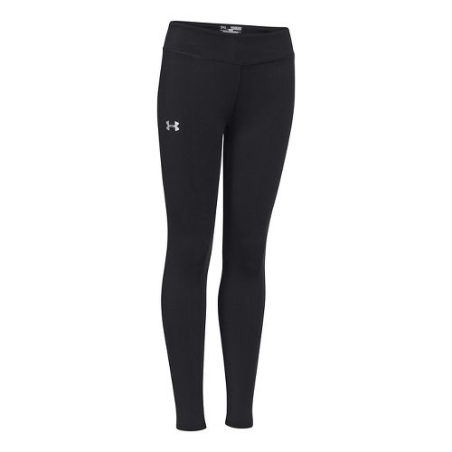 Kids Under Armour Girls Sonic Solid Legging Fitted Tights - Black M