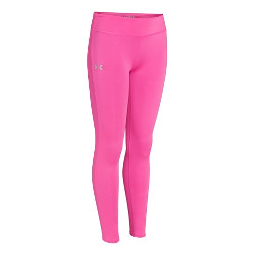 Kids Under Armour Girls Sonic Solid Legging Fitted Tights - Chaos M