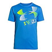 Kids Under Armour Boys I Will T Short Sleeve Technical Tops