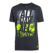 Kids Under Armour Boys Day and Night T Short Sleeve Technical Tops