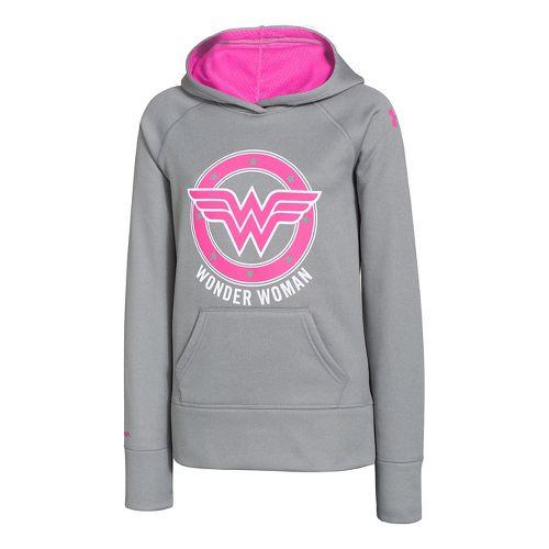 Kids Under Armour Girls Glow Superhero Storm Armour Fleece Hoody Warm-Up Hooded Jackets - True ...