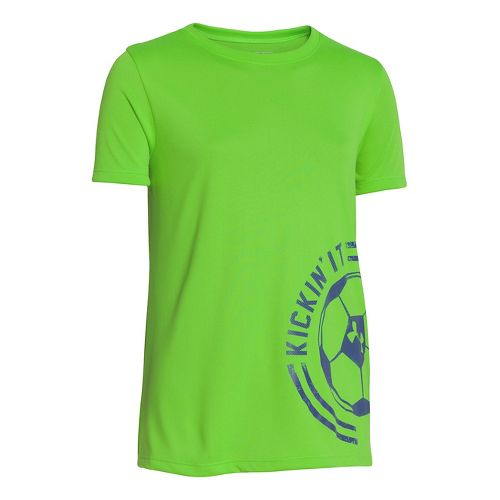 Kids Under Armour Girls Kickin It T Short Sleeve Technical Tops - Gecko Green L ...