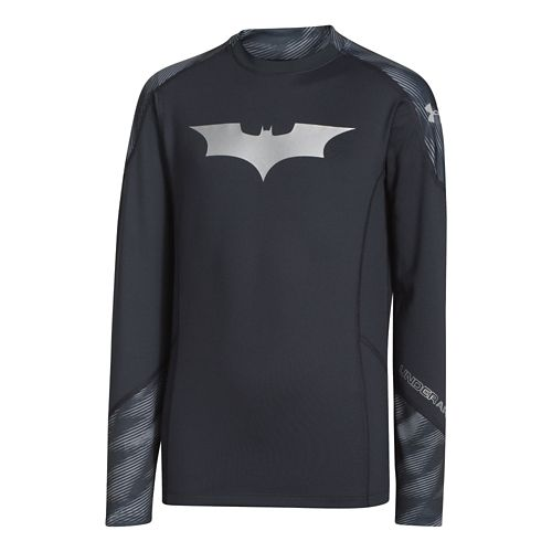 Kids Under Armour Boys Alter Ego ColdGear Mock Long Sleeve No Zip Technical Tops - ...