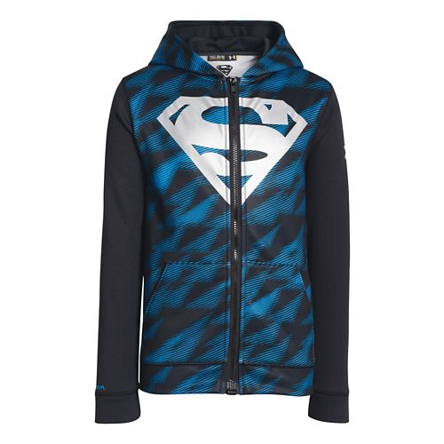 Kids Under Armour Boys Alter Ego Storm Full Zip Hoody Warm-Up Hooded Jackets - Electric ...