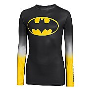 Kids Under Armour Boys Alter Ego HeatGear Long Sleeve No Zip Technical Tops
