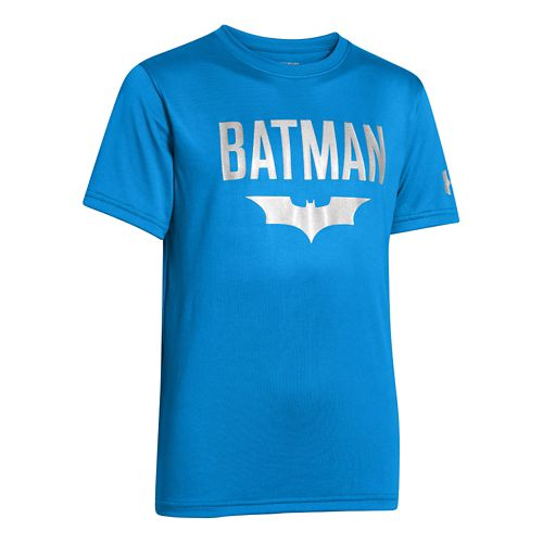 Kids Under Armour Boys Batman Victory T Short Sleeve Technical Tops - Electric Blue S ...
