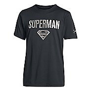 Kids Under Armour Boys Superman Victory T Short Sleeve Technical Tops