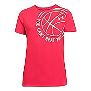 Kids Under Armour Girls Cant Beat This T Short Sleeve Technical Tops