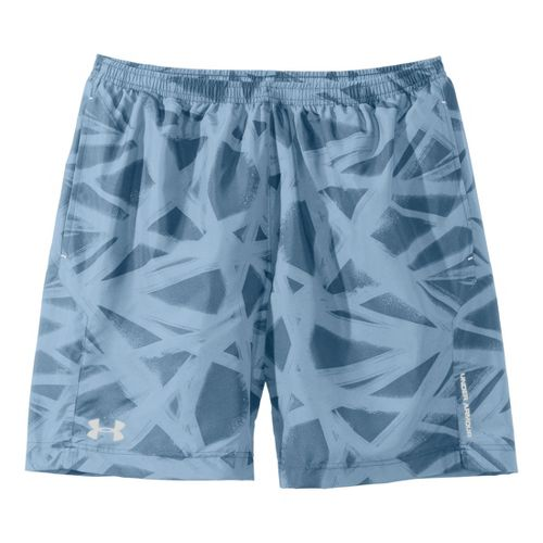 Mens Under Armour Escape 7'' Printed Lined Shorts - Soldier/Graphite M