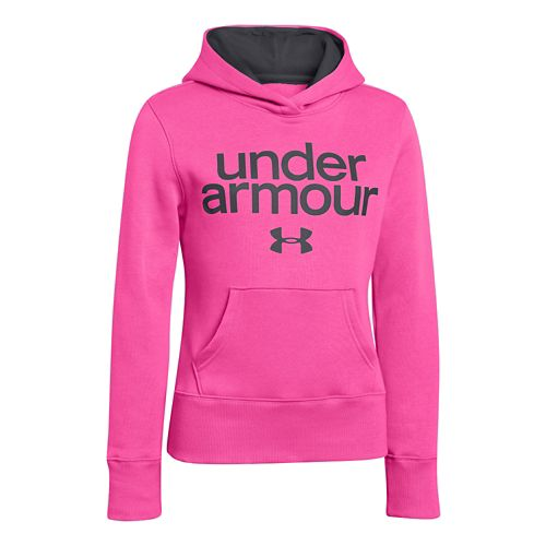 Kids Under Armour Girls Impulse Holiday Cotton Hoody Warm-Up Hooded Jackets - Chaos XL