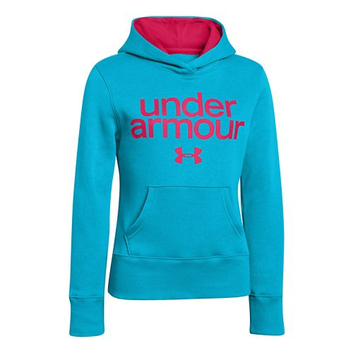 Kids Under Armour Girls Impulse Holiday Cotton Hoody Warm-Up Hooded Jackets - Cortez S