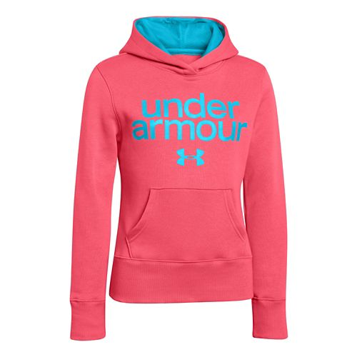 Kids Under Armour Girls Impulse Holiday Cotton Hoody Warm-Up Hooded Jackets - Success S