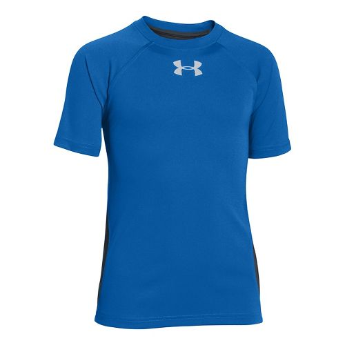 Kids Under Armour Boys UPF Speed T Short Sleeve Technical Tops - Scatter XS