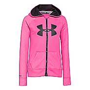 Kids Under Armour Girls Storm Big Logo Novelty Full Zip Running Jackets