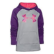 Kids Under Armour Girls Storm Big Logo Armour Fleece Warm-Up Hooded Jackets