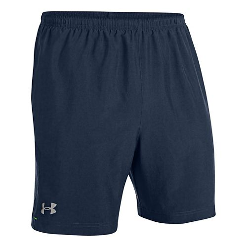 Mens Under Armour Escape 7 Lined Shorts - Academy/Gecko Green L